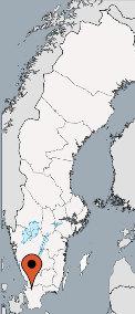 Karte von der Gruppenunterkunft 04464300 Gruppenhaus ASLJUNGA-Solvik in Dänemark S-28672 Ålsjunga für Kinderfreizeiten