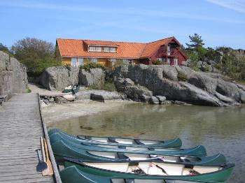 Aussenansicht vom Gruppenhaus 04474020 Freizeitanlage Skottevik in Norwegen N 4770 Hovag-AGDER für Gruppenfreizeiten