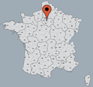 Karte von der Gruppenunterkunft 05335100 Gruppenhaus Villejuif in Dänemark F-75013 PARIS für Kinderfreizeiten