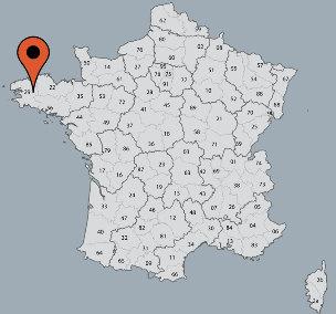 Karte von der Gruppenunterkunft 05335201 Gruppenhaus CHÂTEAUNEUF II- LE GWAKER in Dänemark F-29520 Châteauneuf du Faou für Kinderfreizeiten