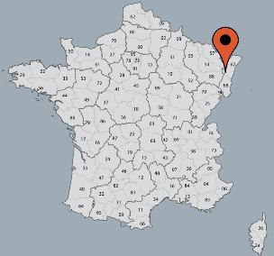 Karte von der Gruppenunterkunft 05335301 Gruppenunterkunft COMBRIMONT II-LE BERCAIL in Dänemark F-88490 Combrimont für Kinderfreizeiten