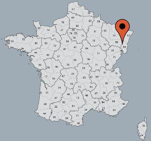 Karte von der Gruppenunterkunft 05335302 Gruppenhaus CENTRE DE VACANCES in Dänemark F-68140 Les Sources Stosswihr für Kinderfreizeiten