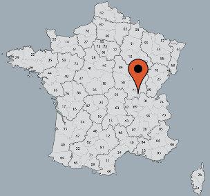 Karte von der Gruppenunterkunft 05335307 Gruppenhaus GITE MONT ST. VINCENT in Dänemark F-25840 Mont St. Vincent für Kinderfreizeiten