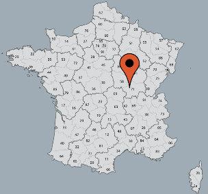 Karte von der Gruppenunterkunft 05335313 Gruppenhaus TOULON SUR ARROUX - LA DEFRICHE in Dänemark F-72320 Toulons sur Arroux für Kinderfreizeiten