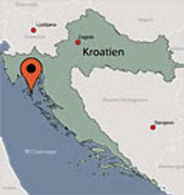 Karte von der Gruppenunterkunft 00380850 Mobilheime MALI LOSINJ in Dänemark HR MALI LOSINJ für Kinderfreizeiten