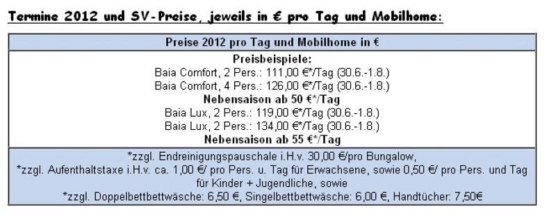Preisliste vom Gruppenhaus 00380850 Mobilheime MALI LOSINJ in Kroatien HR MALI LOSINJ für Gruppenreisen