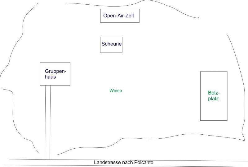 Grundrisse von der Gruppenunterkunft 05395503 Gruppenhaus TENUTA FERRACCDI in Dänemark I-50032 Polcanto für Jugendfreizeiten