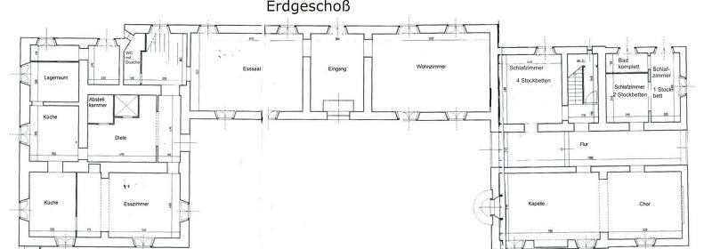 Grundrisse von der Gruppenunterkunft 05395561 Gruppenhaus Pergo-CORTONA  in Dänemark I-52044 CORTONA für Jugendfreizeiten