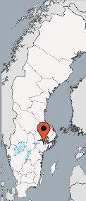 Karte von der Gruppenunterkunft 05465005 Gruppenhaus STENSTUGA in Dänemark S- Katrineholm für Kinderfreizeiten