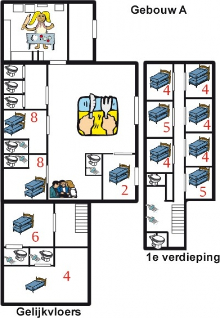 Grundrisse von der Gruppenunterkunft 07317008 Gruppenhaus HOLLUM in Dänemark 9161 HOLLUM für Jugendfreizeiten