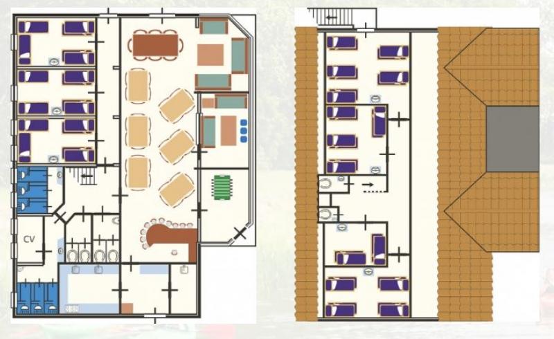 Grundrisse von der Gruppenunterkunft 07317013 Gruppenhaus ANNEN-ACHTEROM in Dänemark NL-9468 ANNEN für Jugendfreizeiten
