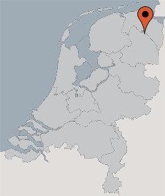 Karte von der Gruppenunterkunft 07317013 Gruppenhaus ANNEN-ACHTEROM in Dänemark NL-9468 ANNEN für Kinderfreizeiten