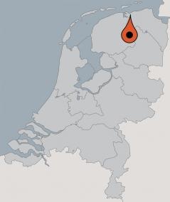 Karte von der Gruppenunterkunft 07317043 Gruppenhaus ENERGIEK **** in Dänemark 9964 Wehe den Hoorn für Kinderfreizeiten