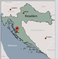 Aussenansicht vom Gruppenhaus 05385300 Gruppenhaus LJUBAC in Kroatien HR 23248 Ljubac für Gruppenfreizeiten