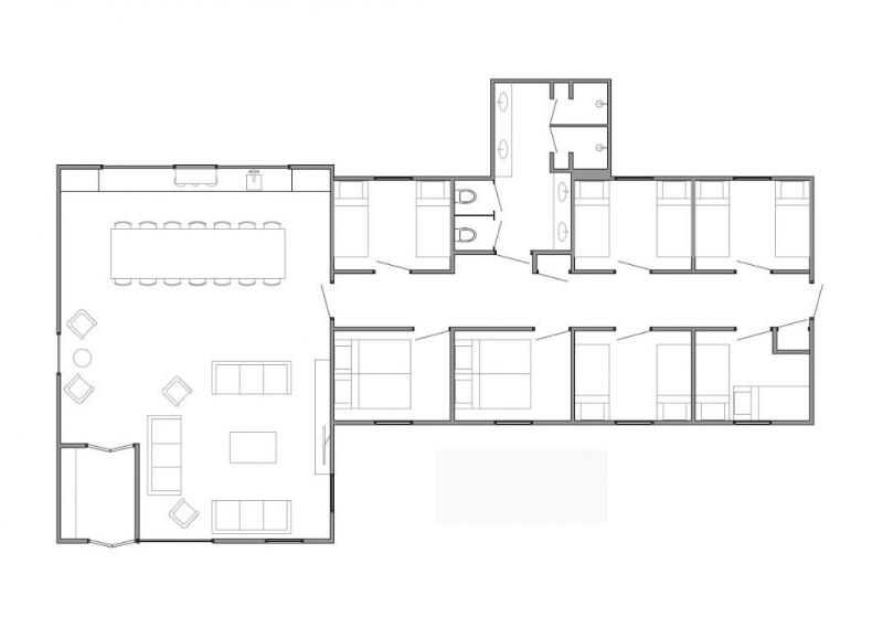 Grundrisse von der Gruppenunterkunft 00310435 Gruppenhaus ZEELUCHT in Dänemark 4353 Serooskerke für Jugendfreizeiten