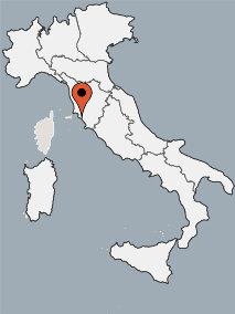 Karte von der Gruppenunterkunft 00390103 ZEBU<sup>®</sup>-Dorf Toskana - X - in Dänemark 58100 Marina di Grosseto für Kinderfreizeiten