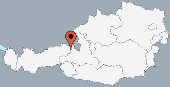 Karte von der Gruppenunterkunft 07437008 Gruppenhaus HOCHFILZEN in Dänemark A-6395 Hochfilzen für Kinderfreizeiten