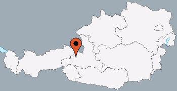 Karte von der Gruppenunterkunft 07437033 Gruppenhaus VIEHOFEN in Dänemark A-5752 VIEHOFEN für Kinderfreizeiten
