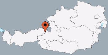 Karte von der Gruppenunterkunft 07437023 Gruppenhaus NIEDEREGG in Dänemark A-5753 SAALBACH-HINTERGLEMM für Kinderfreizeiten