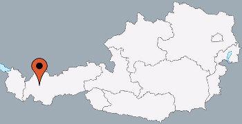 Karte von der Gruppenunterkunft 07437027 Gruppenhaus ST.LEONHARD in Dänemark A-6481 St. Leonhardt/Pitztal/Tirol für Kinderfreizeiten