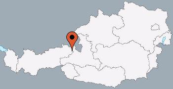 Karte von der Gruppenunterkunft 07437010 Gruppenhaus KAPPL II in Dänemark A-6555 Kappl für Kinderfreizeiten