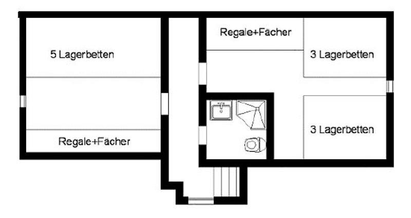 Grundrisse von der Gruppenunterkunft 07437010 Gruppenhaus KAPPL II in Dänemark A-6555 Kappl für Jugendfreizeiten