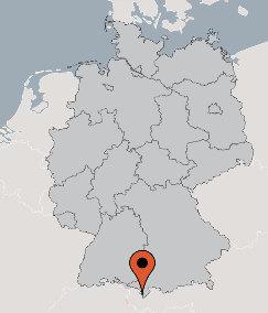 Karte von der Gruppenunterkunft 07437039 Gruppenhaus HIRSCHEGG in Dänemark 87568 Hirschegg für Kinderfreizeiten