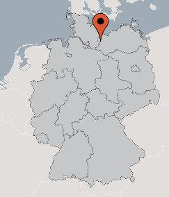 Karte von der Gruppenunterkunft 07497032 Gruppenhaus Roggendorf in Dänemark 19205 Roggendorf für Kinderfreizeiten