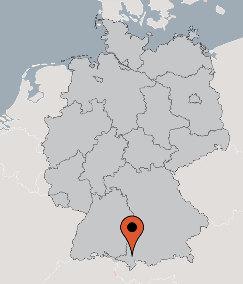 Karte von der Gruppenunterkunft 07497035 Gruppenhaus RETTENBERG in Dänemark 87549 RETTENBERG für Kinderfreizeiten