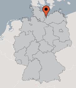 Karte von der Gruppenunterkunft 07497059 Gruppenhaus MEETZEN in Dänemark 19205 MEETZEN für Kinderfreizeiten