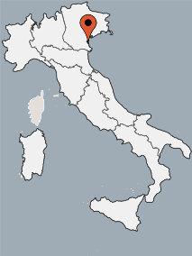 Karte von der Gruppenunterkunft 00390901 ZEBU<sup>®</sup>-Dorf ROSOLINA MARE - VENEDIG - M - in Dänemark 45010 Marina di Caleri für Kinderfreizeiten