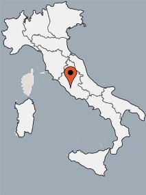 Karte von der Gruppenunterkunft 00390800 ZEBU-Mobilhomes Rom in Dänemark I-00163 ROM für Kinderfreizeiten