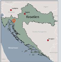 Aussenansicht vom Gruppenhaus 00380617 Haus MARTIN in Kroatien 51250 Novi Vinodolski für Gruppenfreizeiten