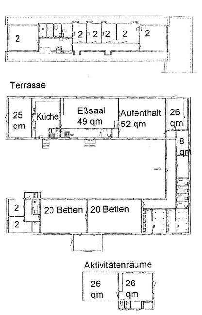 Grundrisse von der Gruppenunterkunft 03453812 KLK-Gruppenhaus - FRENNENAES in Dänemark 3740 Svaneke für Jugendfreizeiten