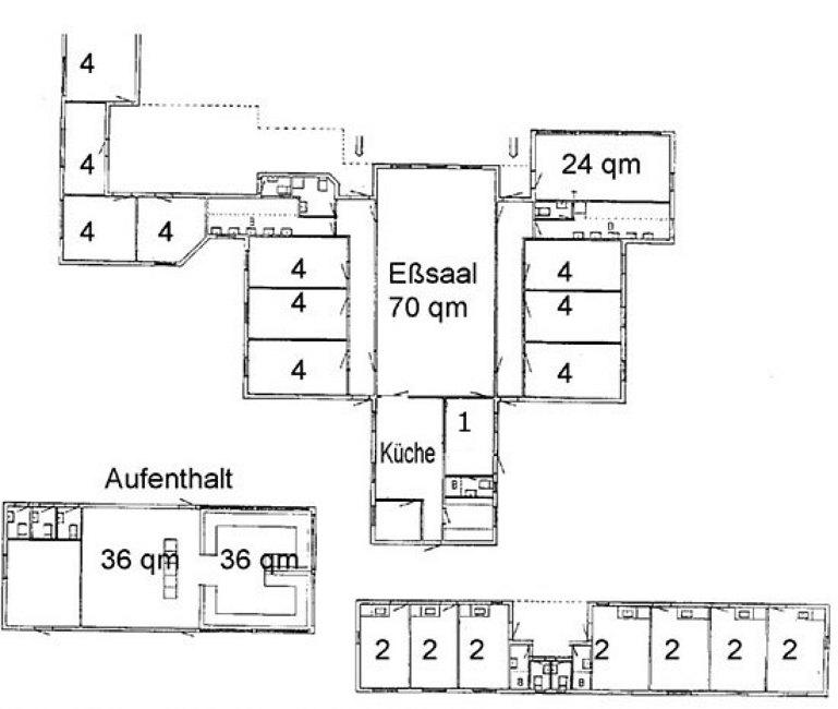Grundrisse von der Gruppenunterkunft 03453813 KLK-Gruppenhaus - NABOEN in Dänemark 3740 Svaneke für Jugendfreizeiten
