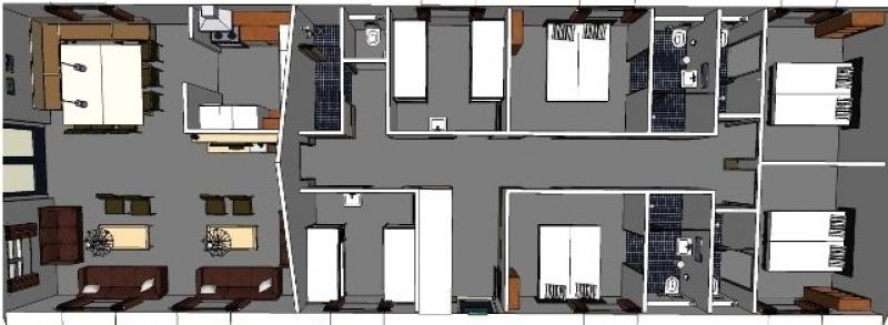 Grundrisse von der Gruppenunterkunft 00310594 Gruppenhaus Maasduinen 1 in Dänemark 5944 Arcen für Jugendfreizeiten
