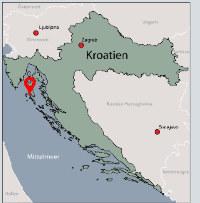 Aussenansicht vom Gruppenhaus 00380102 ZEBU<sup>®</sup>-Dorf MALI LOSINJ - L - KROATIEN in Kroatien 51550 Mali Losinj für Gruppenfreizeiten