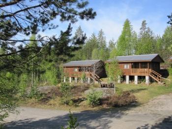 Aussenansicht vom Gruppenhaus 04474050 Hüttencamp Tverstoyl in Norwegen N-4865 Åmli-Südnorwegen für Gruppenfreizeiten