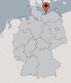Karte von der Gruppenunterkunft 00490239 Gruppenhaus BLOWATZ in Dänemark 23974 Blowatz für Kinderfreizeiten
