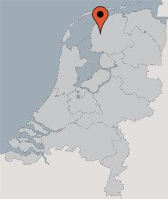 Karte von der Gruppenunterkunft 00310902 Ehem. Kirche FRIESLAND in Dänemark 9021 CR Easterwierrum für Kinderfreizeiten