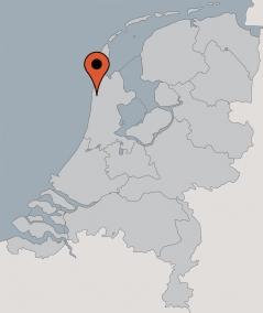 Karte von der Gruppenunterkunft 00310173 Gruppenhaus ACHTERGRACHT in Dänemark 1738 DW Waarland für Kinderfreizeiten