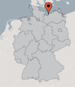 Karte von der Gruppenunterkunft 00490238 Gruppenhaus BLOWATZ II in Dänemark 23974 Blowatz für Kinderfreizeiten