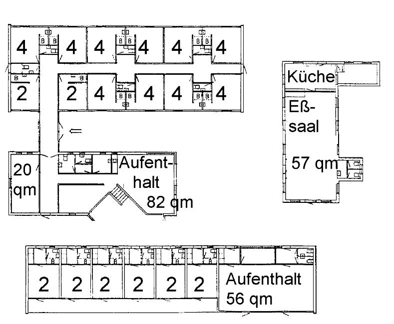 Grundrisse von der Gruppenunterkunft 03453802 KLK-Gruppenhaus - Kajestenshuset in Dänemark 4400 Kalundborg für Jugendfreizeiten