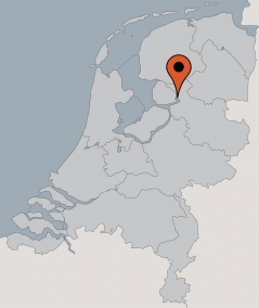 Karte von der Gruppenunterkunft 00310832 Gruppenhaus VOLLENHOVE in Dänemark 8325 PP Vollenhove für Kinderfreizeiten