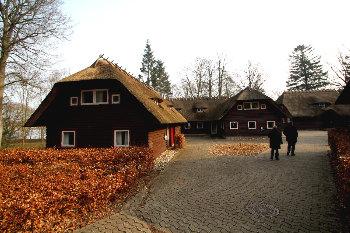 Aussenansicht vom Gruppenhaus 03453111 Gruppenhaus HOUENS ODDE GILWELLHYTTERNE in Dänemark 6000 Kolding für Gruppenfreizeiten