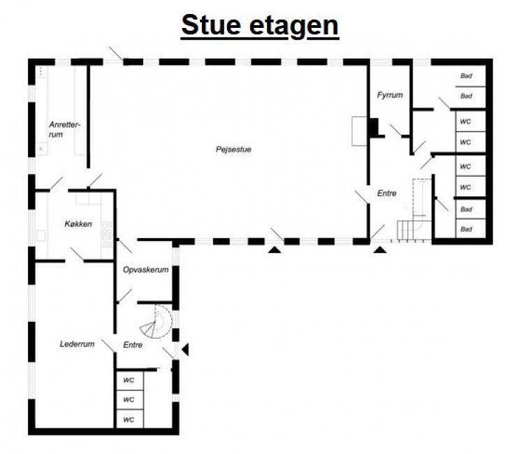 Grundrisse von der Gruppenunterkunft 03453079 Lurendal in Dänemark 6580 Vamdrup für Jugendfreizeiten