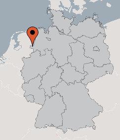 Karte von der Gruppenunterkunft 00490498 Gruppenhaus HOOGSTEDE in Dänemark 49846 Hoogstede für Kinderfreizeiten