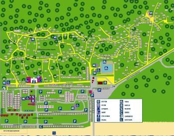 Karte von der Gruppenunterkunft 00390904 ZEBU-Dorf Venedig - Italien in Dänemark 45010 Marina di Caleri für Kinderfreizeiten