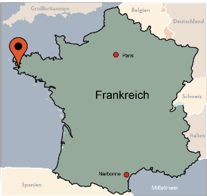 Karte von der Gruppenunterkunft 05335228 Gruppenhaus MAHALON  in Dänemark 29790 Mahalon für Kinderfreizeiten