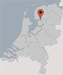 Karte von der Gruppenunterkunft 00310853 Gruppenhaus HET WATER I in Dänemark 8536 VD Oosterzee für Kinderfreizeiten